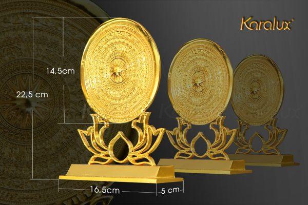 Mặt trống đồng đế hoa sen Karalux có nhiều kích thước khác nhau