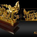 Tượng Rồng thời Lý mạ vàng 3