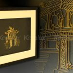Bức tranh Khuê Văn Các mạ vàng 3