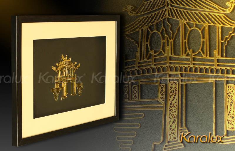 Bức tranh Khuê Văn Các mạ vàng 5