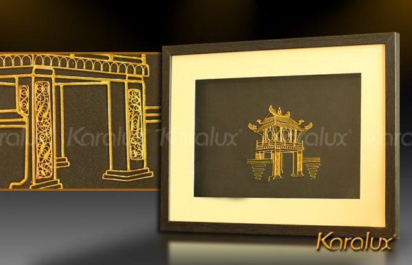 Bức tranh Khuê Văn Các mạ vàng 1