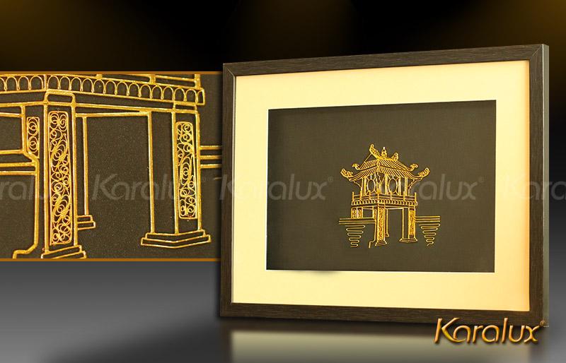 Bức tranh Khuê Văn Các mạ vàng 7