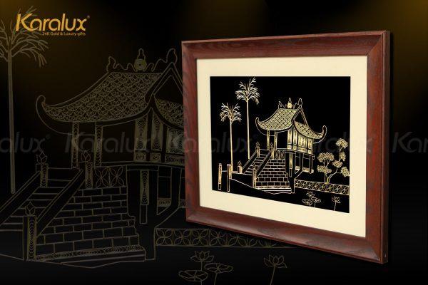 Tranh chùa Một Cột là món quà tặng ý nghĩa cho đối tác, bạn bè đến thăm và làm việc tại Hà Nội, Việt Nam