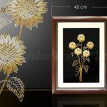 Tranh hoa hướng dương bằng bạc mạ vàng (5 bông) 6