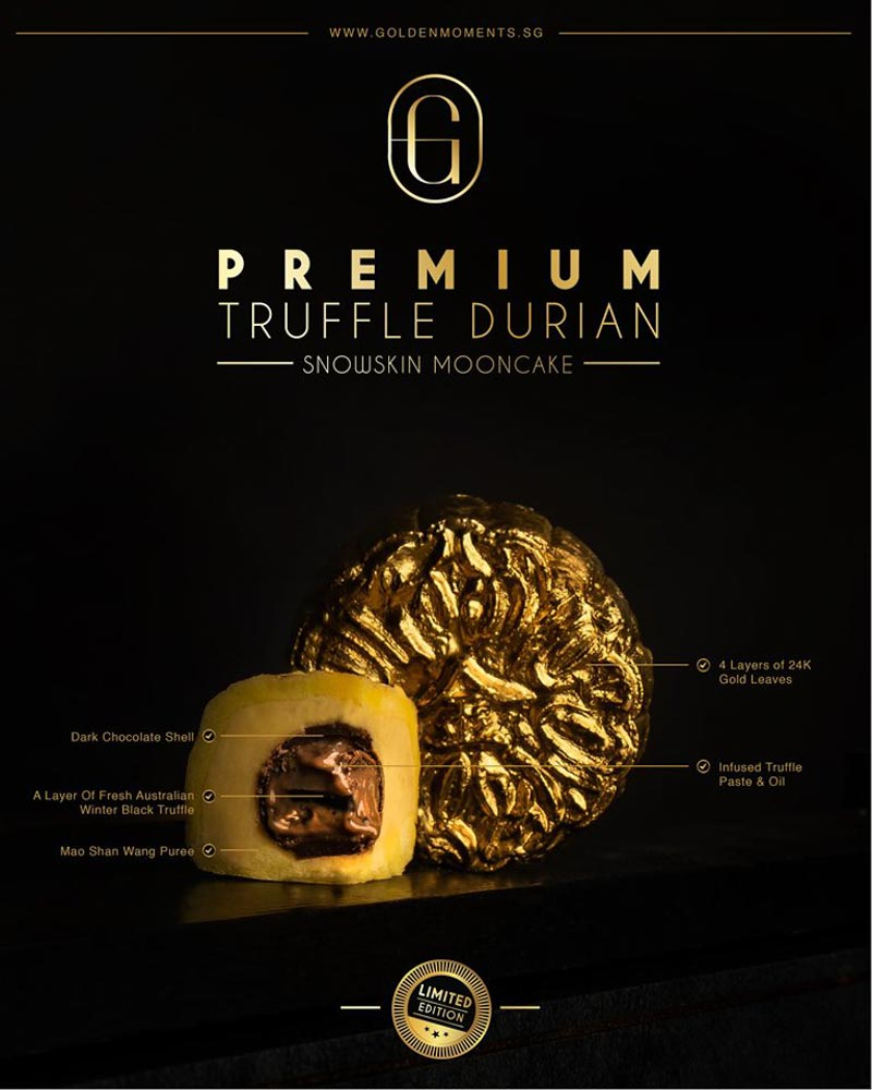 Phiên bản giới hạn bánh trung thu phủ vàng Singapore gây sốt 18