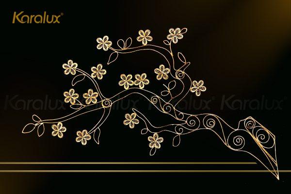 Tranh thuyền buồm thuận buồm xuôi gió mạ vàng Karalux 6
