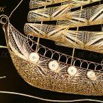 Tranh thuyền buồm thuận buồm xuôi gió mạ vàng Karalux 20
