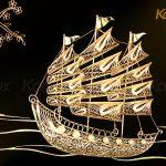 Tranh thuyền buồm thuận buồm xuôi gió mạ vàng Karalux 10