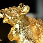 Tượng chuột phong thủy Phát Tài mạ vàng 24k 2