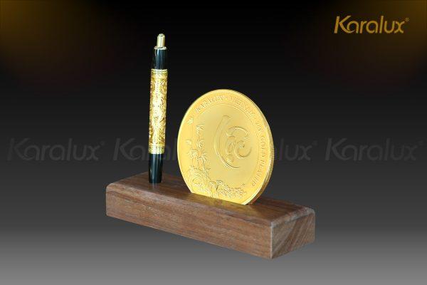 Đồng lộc kim Canh Tý mạ vàng 1