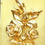 Tranh hoa hồng mạ vàng để bàn 6