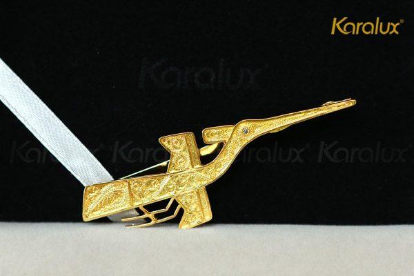 Kẹp cà vạt cao cấp hình chim lạc mạ vàng Karalux 2
