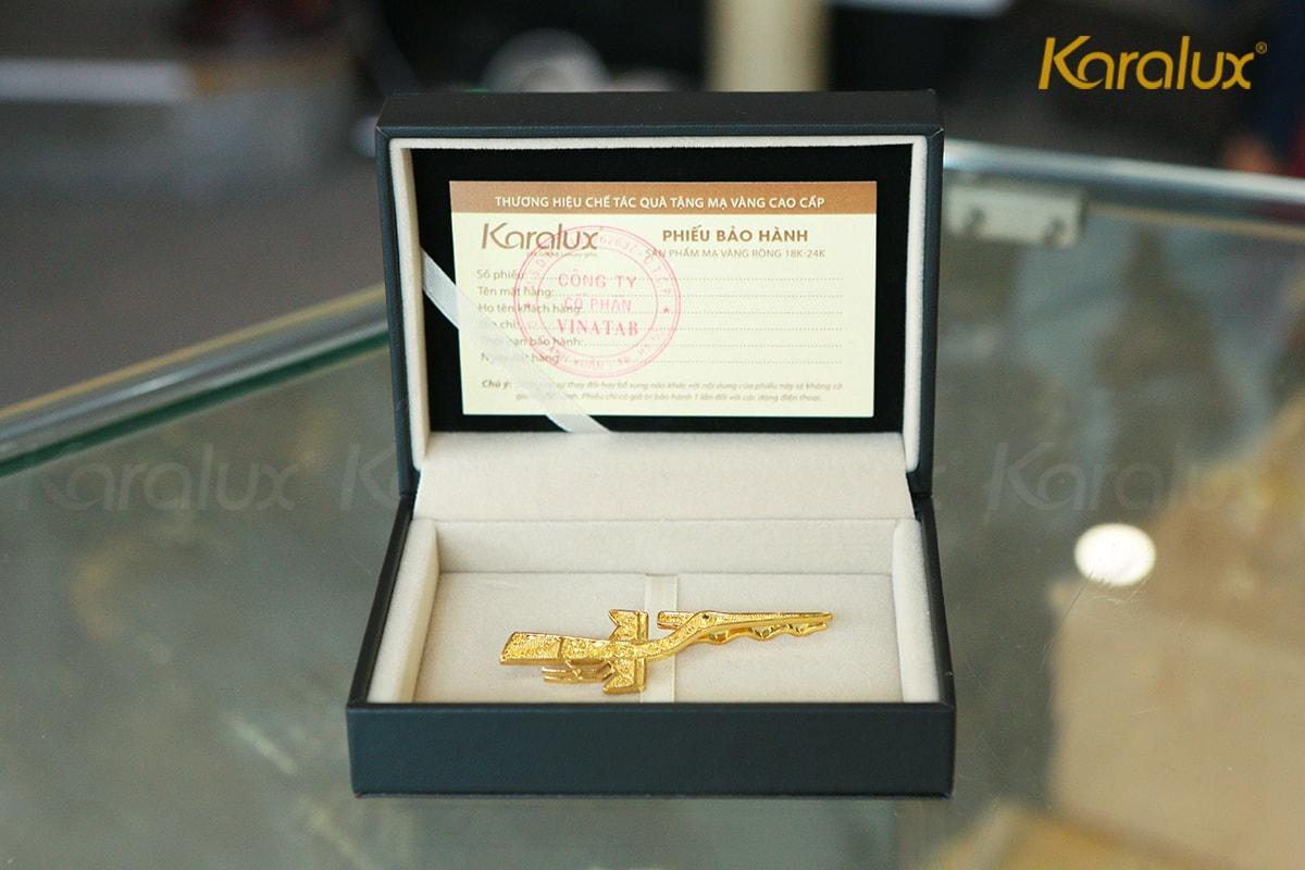 Kẹp cà vạt cao cấp hình chim lạc mạ vàng Karalux 5