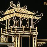 Tranh Khuê Văn Các mạ vàng phiên bản để bàn 4