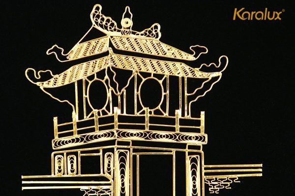 Tranh Khuê Văn Các mạ vàng phiên bản để bàn 2