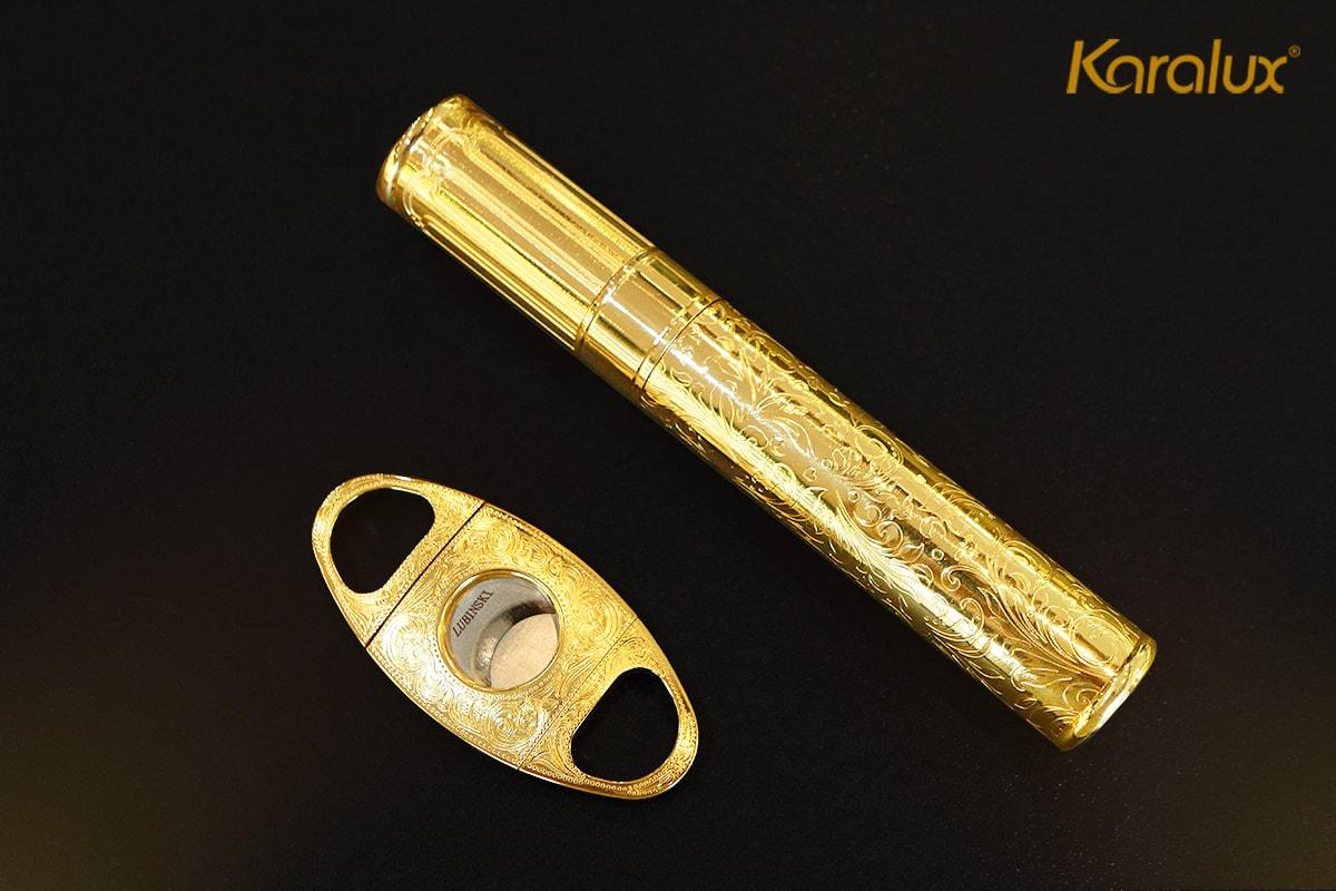 Bộ phụ kiện xì gà mạ vàng 13