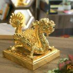Ấn rồng mạ vàng Sắc mệnh chi bảo 6