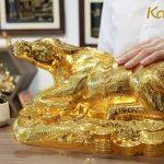 Tượng trâu mạ vàng Kim Ngưu Đại Bảo 6