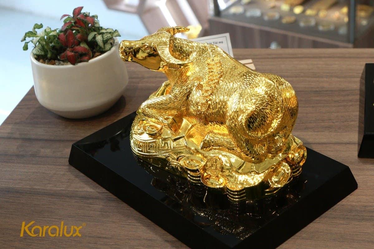 Tượng trâu mạ vàng Kim Ngưu Đại Bảo 10