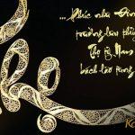 Tranh chữ Thọ mạ vàng 3
