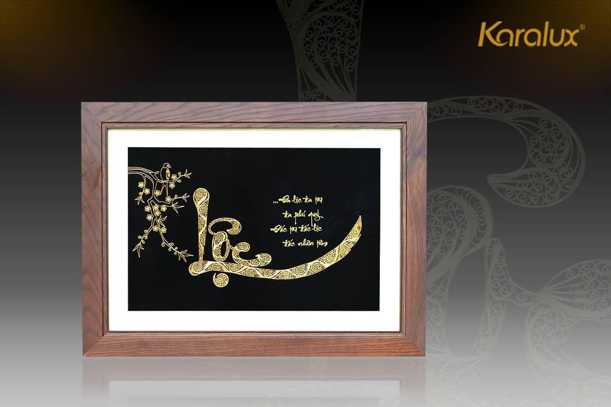 Tranh chữ Lộc mạ vàng 5