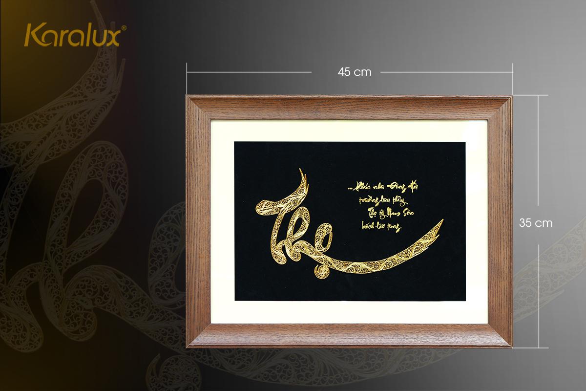 Tranh chữ Thọ mạ vàng 8
