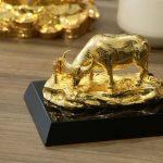 Tượng trâu mạ vàng An Lạc 6