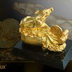 Tượng trâu mạ vàng Nghênh Phúc 3