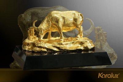 Tranh Khuê Văn Các mạ vàng phiên bản để bàn 26