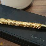 Bút ký mạ vàng cành lá hóa long 7
