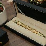 Bút ký mạ vàng cành lá hóa long 5