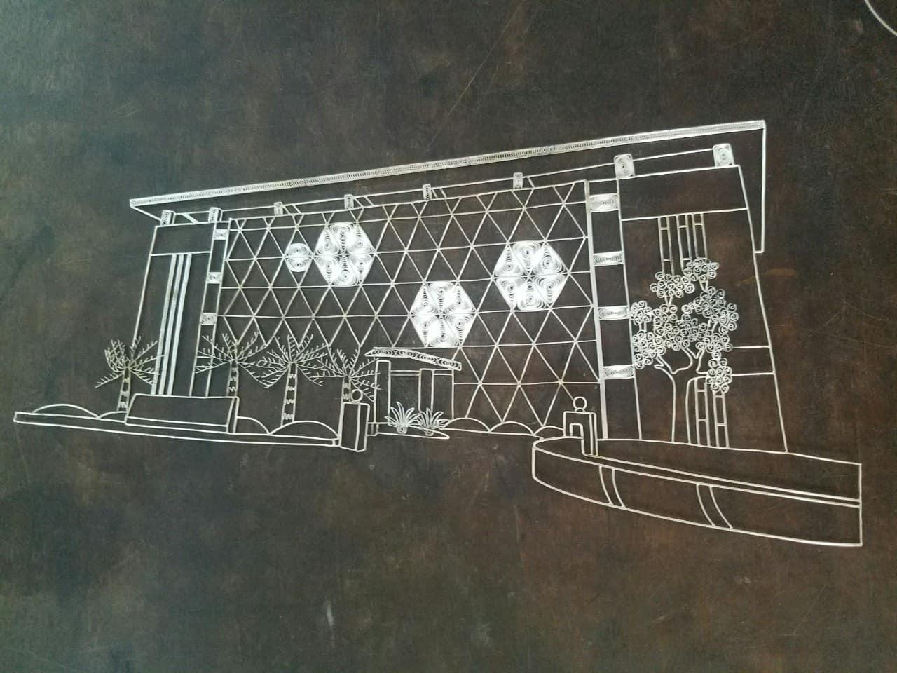 Các chi tiết tranh đều được chế tác thủ công từ sợi bạc bởi nghệ nhân kim hoàn Karalux