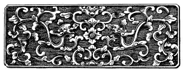 Mẫu hoa văn cung đình Huế được đội ngũ thiết kế Karalux nghiên cứu và thiết kế lại làm thành thân bút