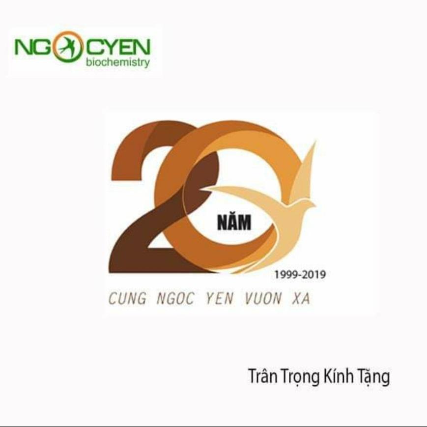 Logo kỷ niệm 20 năm thành lập công ty Ngọc Yến