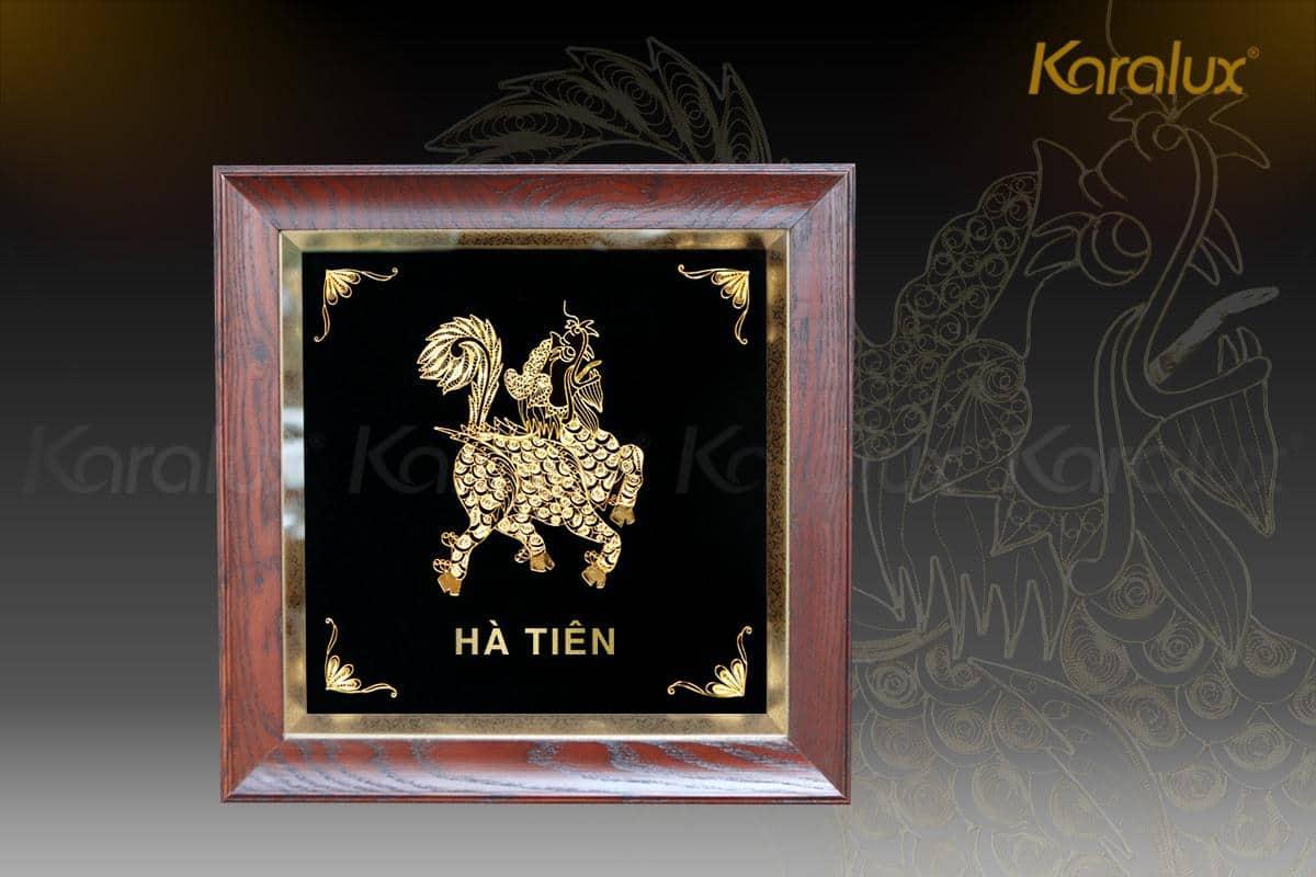 Quà tặng ngoại giao: Tranh kỳ lân mạ vàng Công ty Xi Măng Hà Tiên 7