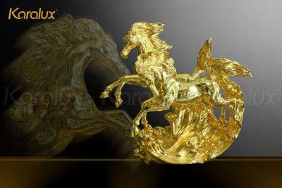 Tranh Khuê Văn Các mạ vàng phiên bản để bàn 22